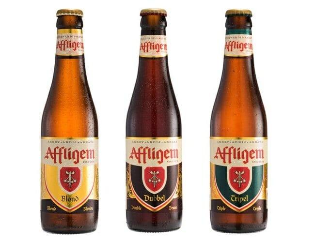 Las tres variedades de Affligem: blond, doble y triple