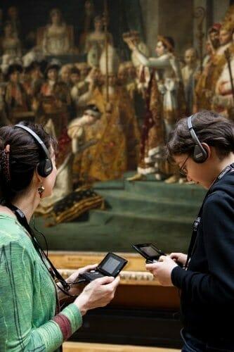 Los visitantes del Louvre podrán utilizar las videoconsolas para guiar su visita
