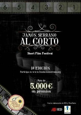 """Cartel del concurso """"Jamón Serrano al Corto"""""""