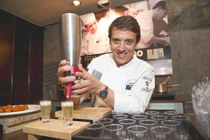Francis Paniego durante el showcooking del Premio Chef Millesime 2012