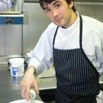 Óscar García, en la cocina de Baluarte