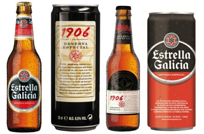ESTRELLA GALICIA 1906 Helles Bier Reserva Spezial 10er-Pack Flaschen 33 cl