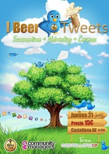 Cartel del I Beer & Tweets