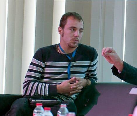 Detalle de Pau Albornà en GastroTechDays 2011 (Imagen tomada del blog de Jorgue Guitián)