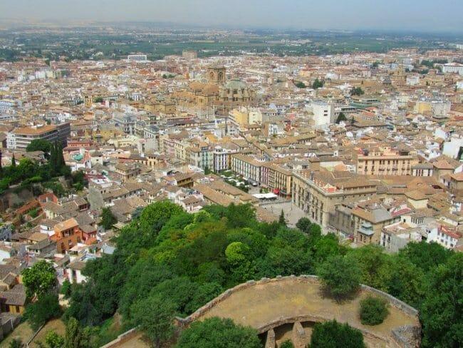 Vista de Granada desde la torre de la Vela