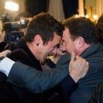 Martín Berasategui felicita a Eneko Atxa por su tercera estrella
