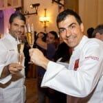 Ramón Freixa y Paco Roncero brindan en el cóctel