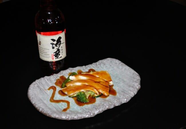 Pez mantequilla con salsa Teriyaki