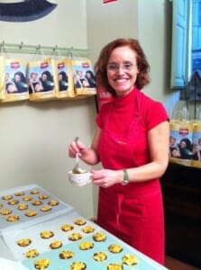 Rita Cifuentes, durante el taller de cocina