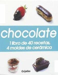 Portada de Chocolate: 1 libro de 40 recetas, 4 moldes de cerámica