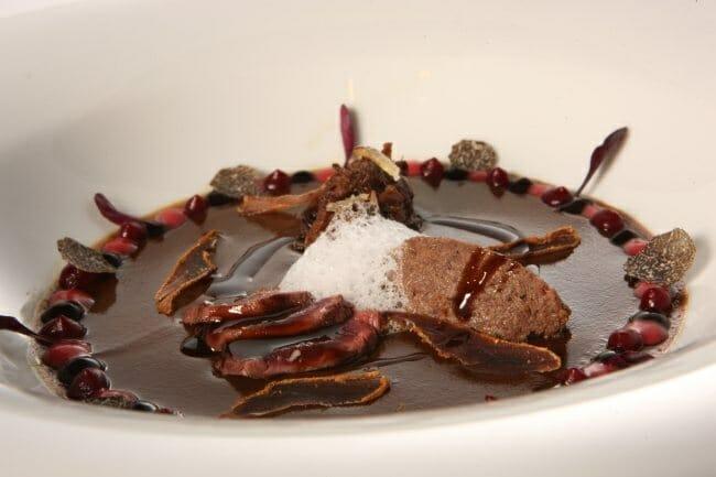 Uno de los platos presentados por Joan Roca