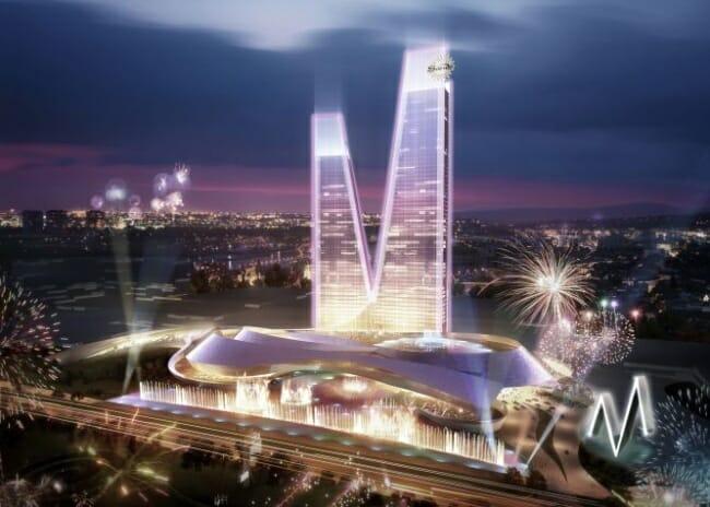 Recreación del Hotel M, con 72 plantas, que se construirá en 2017
