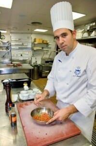 Javier Muñoz, segundo de cocina del restaurante Goya