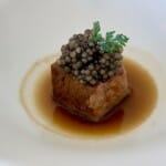 Lengua de ternera estofada y caviar Imperial Baeris
