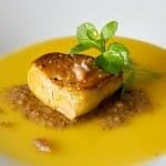 Foie gras de Andignac, tierra de centeno, jugo de naranjas y anchoas
