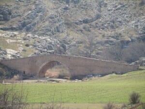 Puente medieval sobre el río Caracena