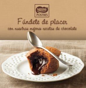 Portada de Fúndete de placer, con nuestras mejores recetas de chocolate