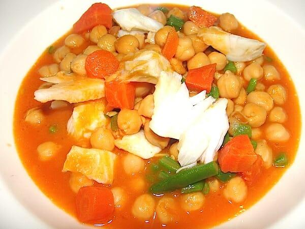 Potaje de bacalao con verduras