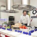 Firo Vázquez, en el I Taller AOVE Casas de Hualdo sobre técnicas de cocina con aceite