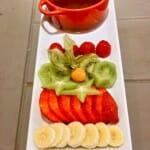 Fondeau de chocolate y frutas