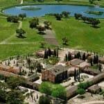 Vista aérea del Hotel Valdepalacios