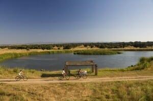 Los paseos en bicicleta por el lago son otra opción a tener en cuenta