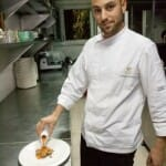 Rubén Arnanz, en la cocina del Jardín de Orfila