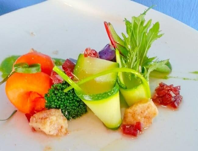 Un men completo con helados salados en valencia comer - Menestra de verduras en texturas ...