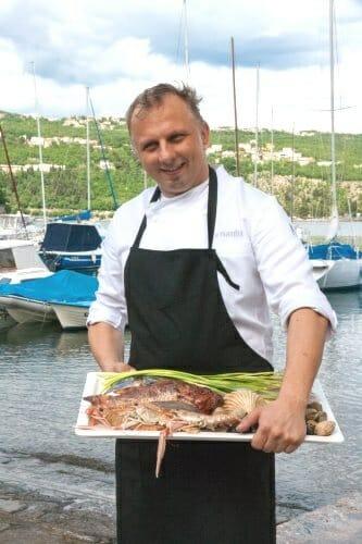 Denis Zembo en el puerto de Volosko