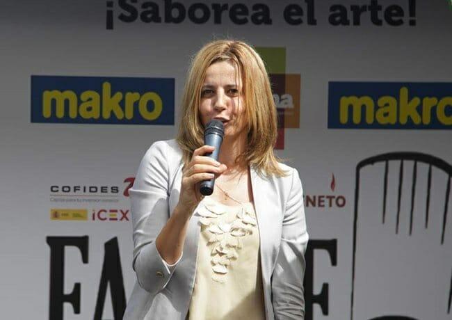 Mª del Coriseo González-Izquierdo, durante la presentación de FINCHEF