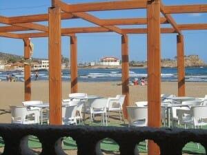 El restaurante Bangalore está en la playa