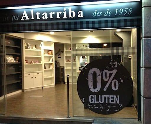 Fachada de 0% Gluten en Barcelona