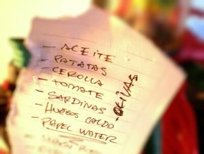 Ir a comprar con una lista previa en uno de los consejos
