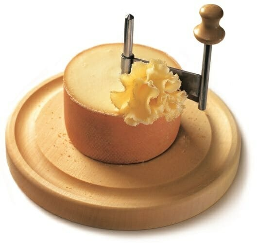T te de moine aop el queso que se sirve en forma de flor nutricion y consumo - Cortador de queso ...
