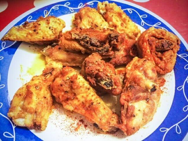 Pollo frito a la diabla