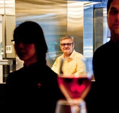 Iñaki Oyarbide, en su restaurante