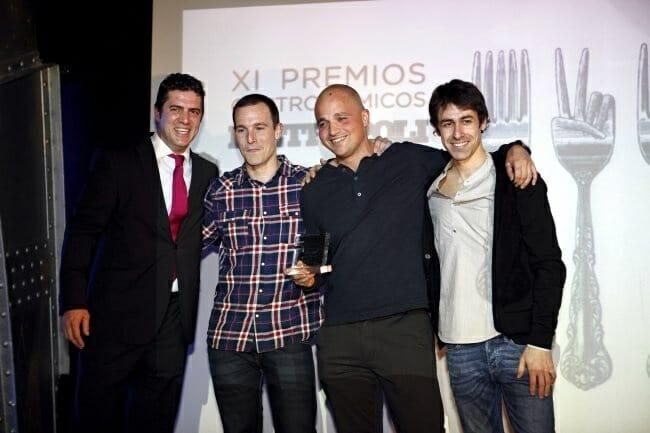 Javier Mayor, David Alfonso y Javier Goya de Triciclo, el restaurante revelación