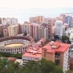 Vista de la ciudad desde el castillo de Gibralfaro. Málaga