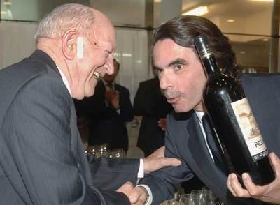 José María Aznar era un buen conocedor de los vinos