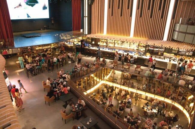 Vista de Platea desde el restaurante Arriba