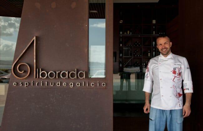 Iván Domínguez, en la puerta de Alborada