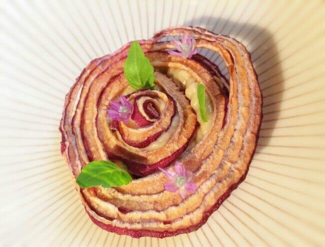 Cebolla en varias texturas