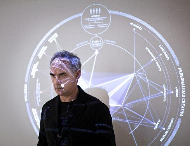Ferran Adrià frente al Mapa del Proceso Creativo