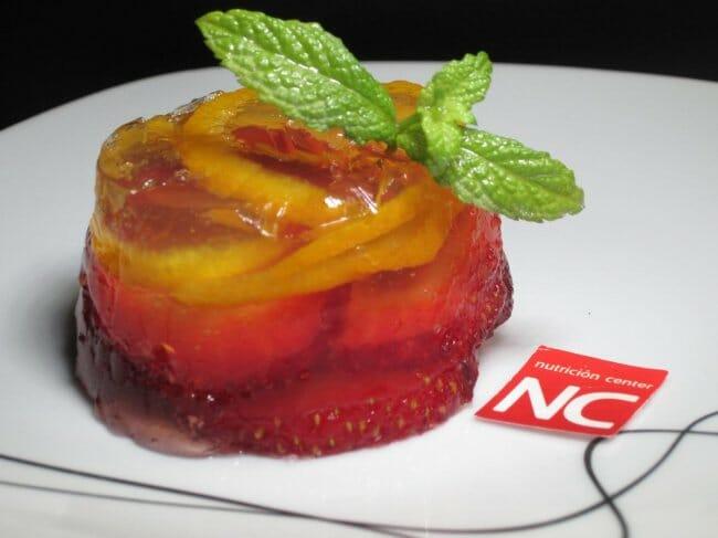 Gelatina de fresas