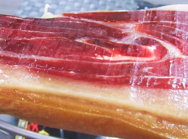 Brillo del jamón ibérico 100% de bellota