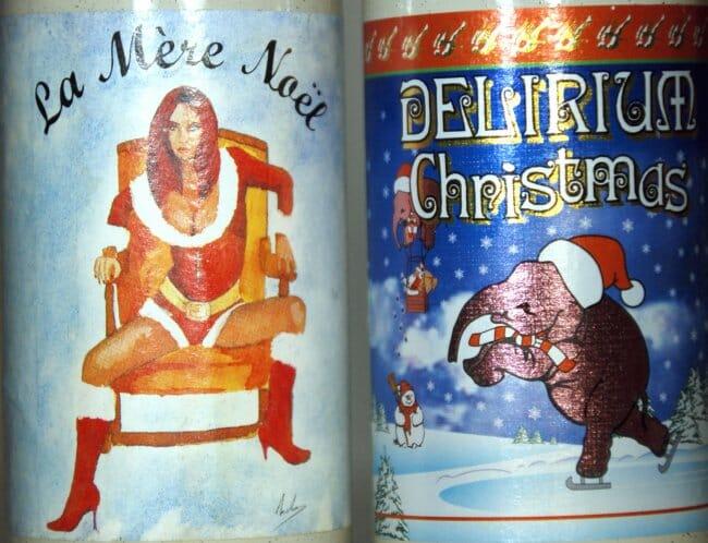 Etiquetas navideñas Delirium Tremens
