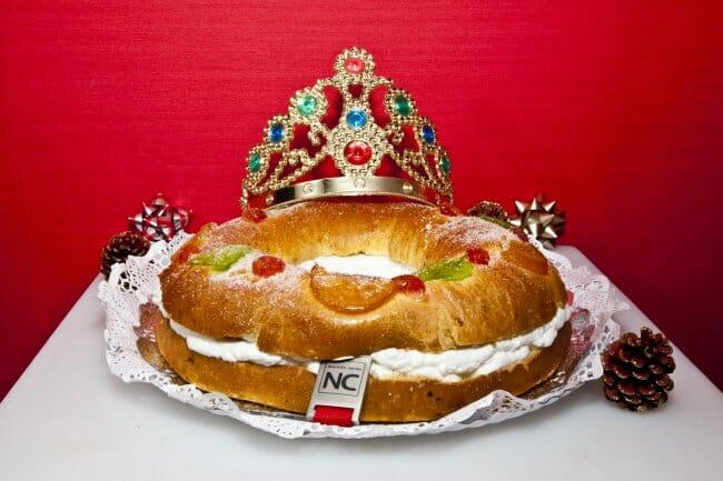 Roscón de Reyes saludable con masa fermentada