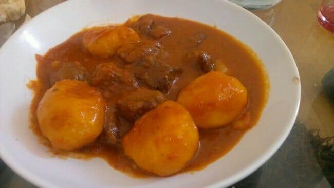 Guisote de ternera con patatas