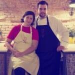 Los chefs Saúl Sanz y Elena Ursu