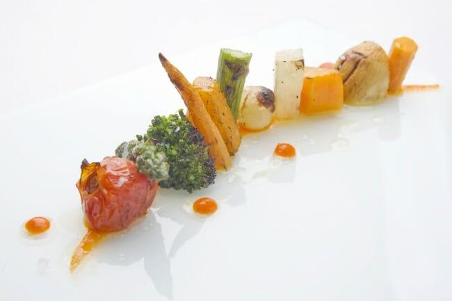 Vegetales a la brasa